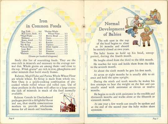 Page from promotional booklet, A Mother's Manual