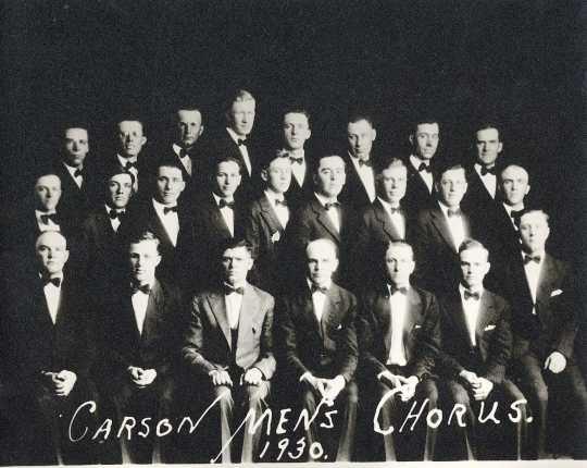 Photograph of the Carson Male Chorus
