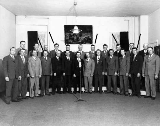 Photograph of the Carson Male Chorus, 1949
