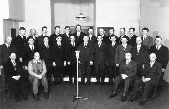 Photograph of the Carson Male Chorus, 1952
