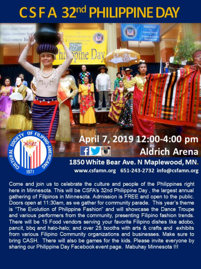 Flyer advertising Philippine Day