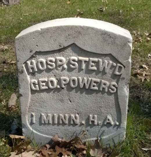 Color image of George Powers monument, 2014.
