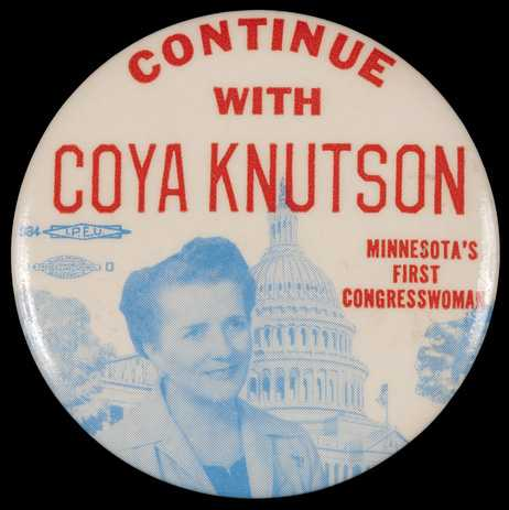 Photograph of a Knutson campaign button