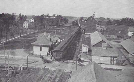 Photograph of Canton Railroad and Depot