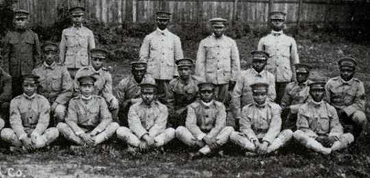 Black and white photograph of men of the Sixteenth Battalion of the Minnesota Home Guard, c.1918.