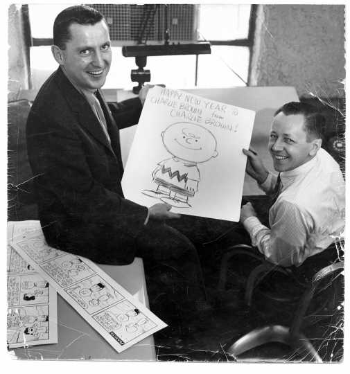 Charles Schulz and Charlie Brown