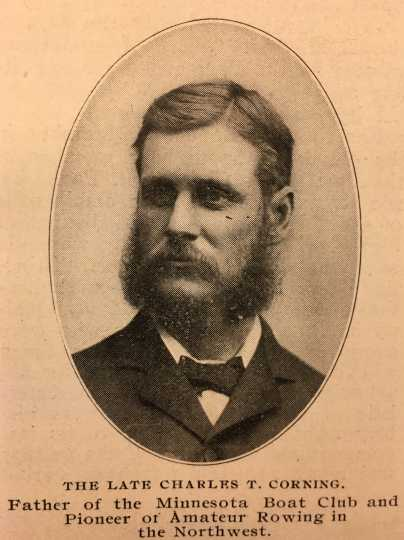 """Charles T. Corning. From Leavitt Corning, """"The Minnesota Boat Club: History of the Organization Which Has Stood for Nearly Two Score Years for the Best in American Amateur Athletics,"""" Razoo 1, no. 3 (February 1903): 9–13."""