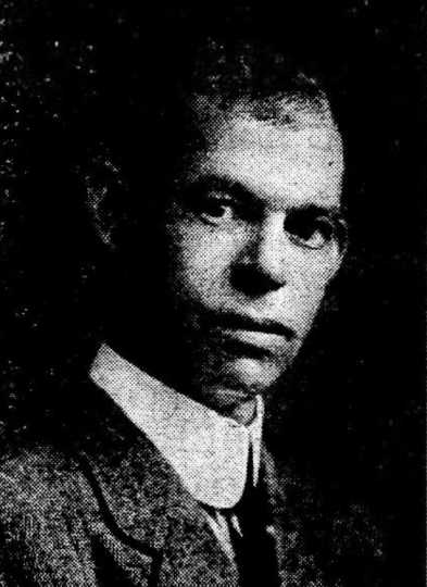 Black and white newspaper image of Charles Sumner Smith, c.1917.