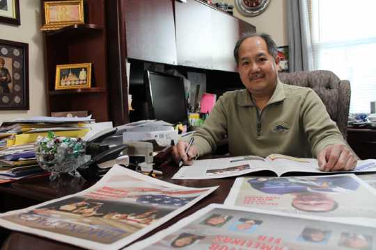 Cheu Lee in his office
