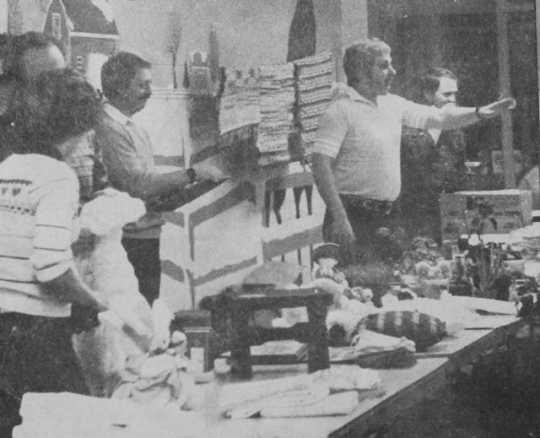 Apron sale organized by the Clara Barton Club