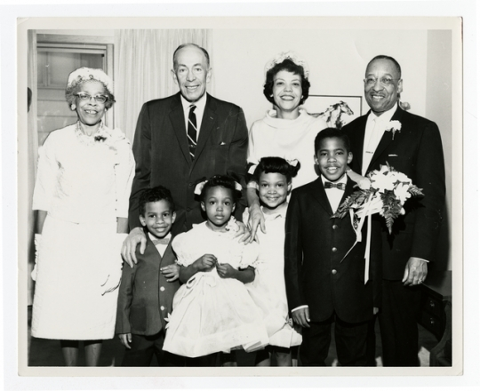 Cecil Newman and his family with Minnesota Governor Karl Rolvaag