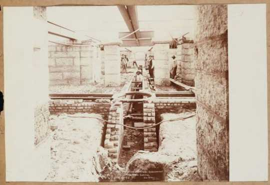 Creating the subbasement of the Capitol