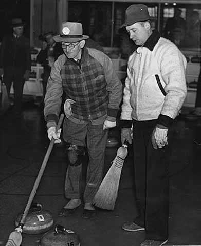 Two of the leading skips in the St. Paul Curling club bonspiel.