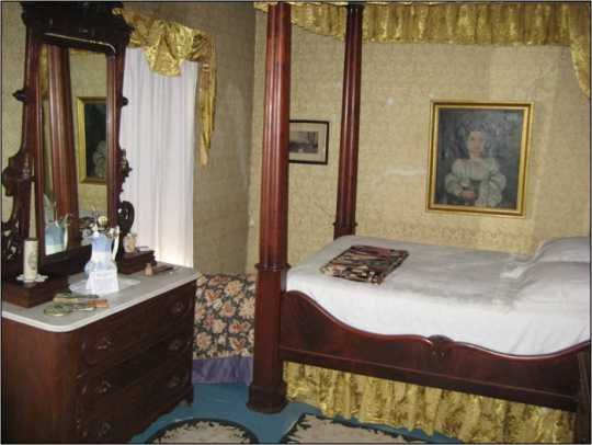 Master bedroom in the Ames-Florida-Stork House