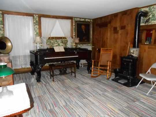 Music room in the Ames-Florida-Stork House