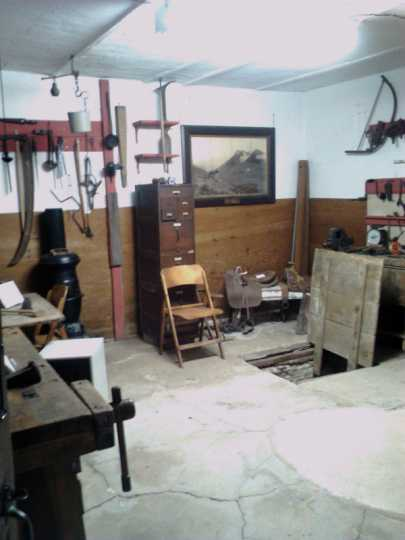 Tool room in the Ames-Florida-Stork House