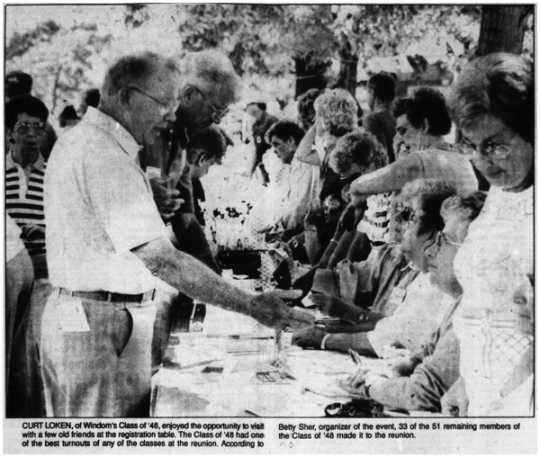 Registration table at Riverfest 1990