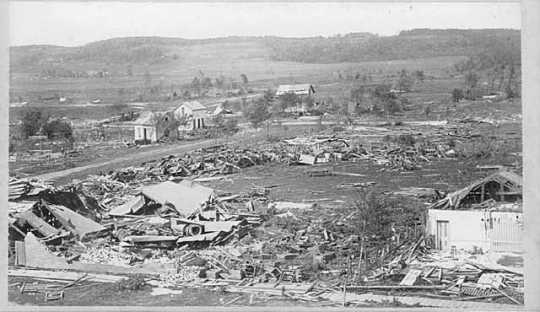 Aftermath of cyclone, Rochester.