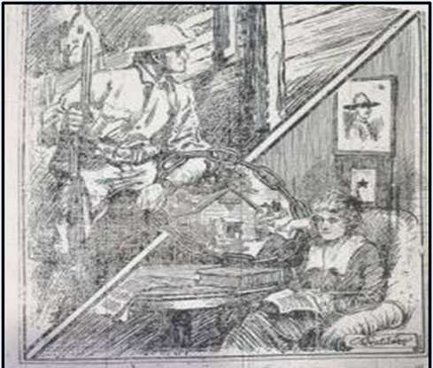 YMCA illustration from the Daily Journal (St. Cloud), October 12, 1918.