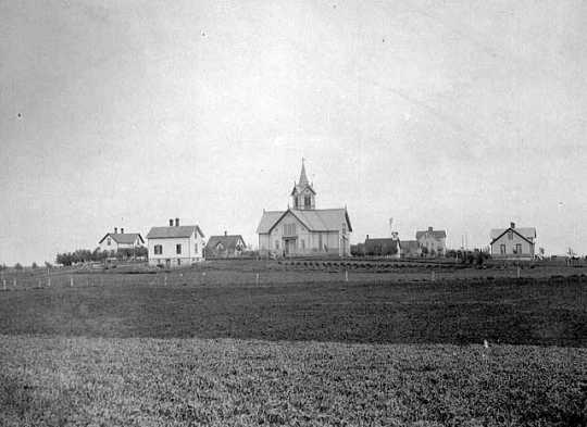 Photograph of Danebod complex, c.1890