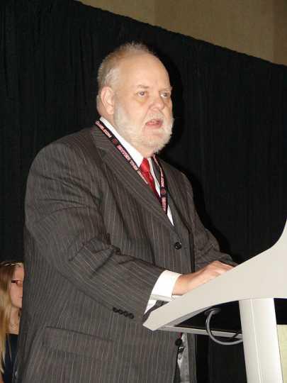 Dave Arneson receiving an ENnie award