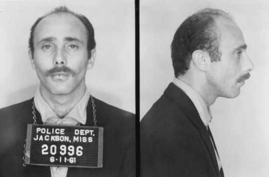 Freedom Rider Marvin Davidoff photographed after his arrest by the Jackson Police Department in Jackson, Mississippi on July 11, 1961.