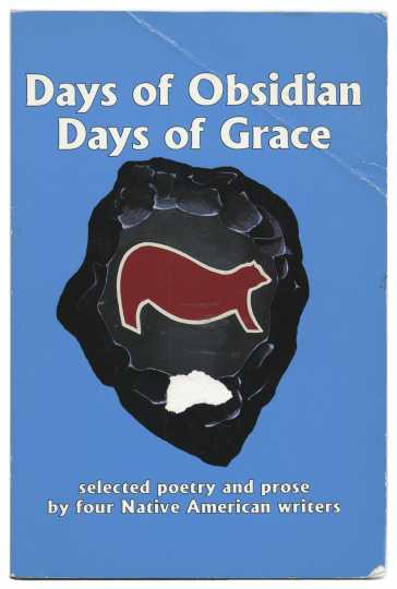 Cover art of Jim Northrup's Days of Obsidian Days of Grace (Poetry Harbor, 1994).