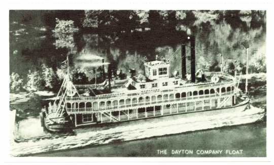 Dayton Company Paddleboat float, ca. 1958