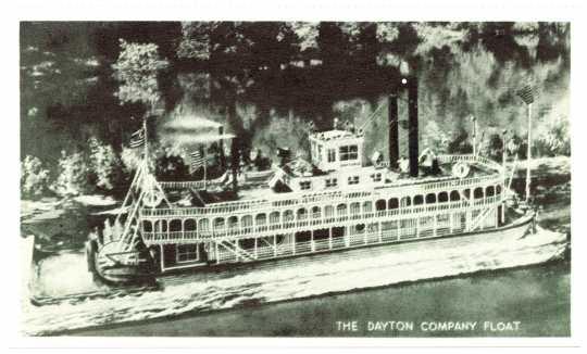 Dayton Company Paddleboat float, ca. 1958