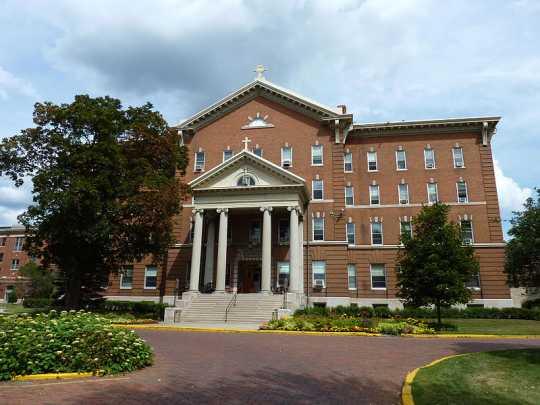 Color image of Derham Hall at St. Catherine University, July 26, 2009.