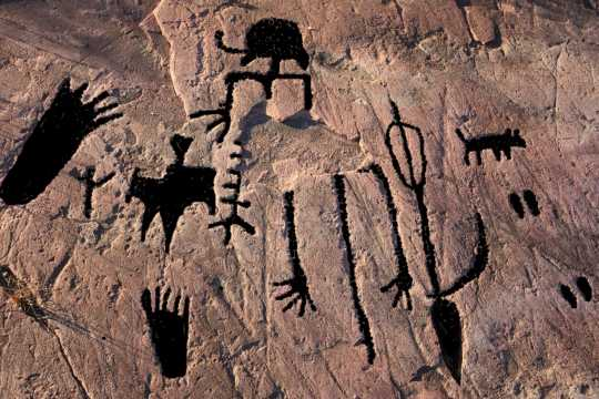 Digitally enhanced petroglyphs
