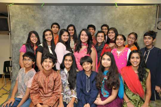 SILC students during Diwali