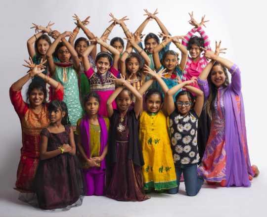 SILC students celebrating Diwali
