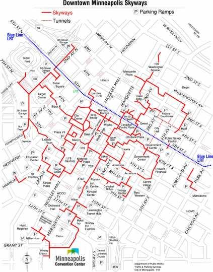 image regarding Minneapolis Skyway Map Printable identify Minneapolis Skyways MNopedia