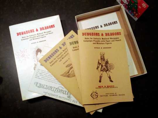 Original Dungeons & Dragons rulebooks