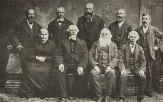 Black and white photograph of the founders of New Ulm, c.1854.