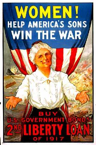 Color image of a World War I-era poster, 1917.