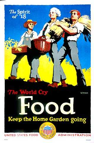 Color U.S. Food Administration promotion poster designed by William McKee, c.1918.