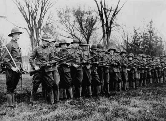 Troops training in Stillwater
