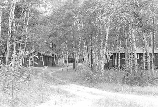 General view of Camp Rabideau, Chippewa National Forest, Beltrami County, 1974. Photograph Collection, Minnesota Historical Society, St. Paul
