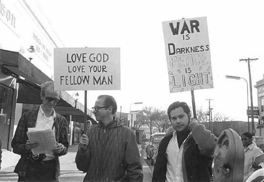 Anti-Vietnam War demonstration in Dinkytown