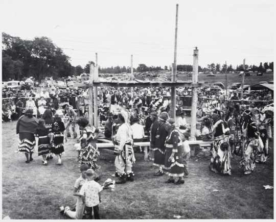 Powwow at Red Lake Reservation, 1949.