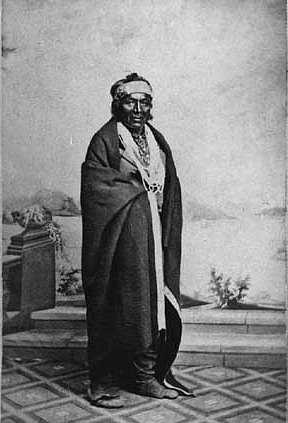 Black and white photograph of Ho-Chunk leader Little Hill, who was one of his people's leading orators, c.1865.