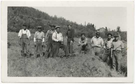 Civilian Conservation Corps workers at Grand Portage