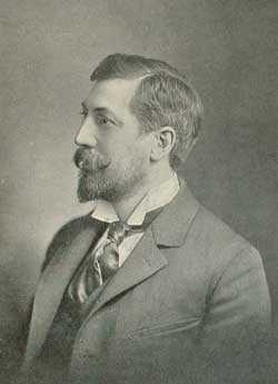 Black and white photograph of Edward Clark Potter, c.1899.