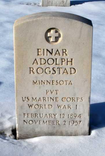 Einar A. Rogstad's tombstone