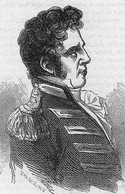 Black and white drawing of Brigadier General Eleazar Wheelock Ripley, c.1812.