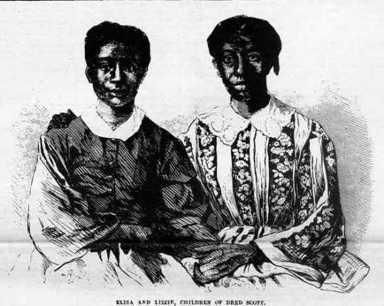 Engraving of Eliza and Lizzie Scott that appeared in the June 27, 1857 edition of Frank Leslie's Illustrated Newspaper.