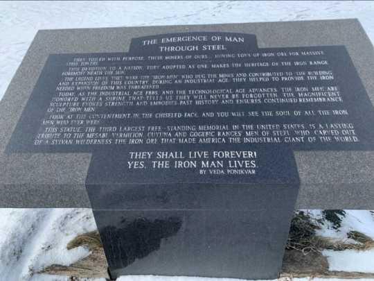 Emergence of Man Through Steel plaque