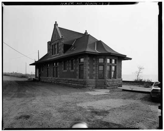 View of west rear, looking east - Endion Passenger Depot, 1504 South Street, Duluth, St. Louis County, MN
